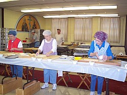 Our Faithful Workers Prepare the Christmas Rolls