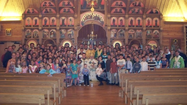 Group Photo following the Divine Liturgy on Friday with Metropolitan Nicholas